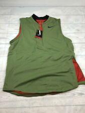 Mens Nike Dri Fit Zoned Aerolayer Golf Vest Green Orange Large 833334