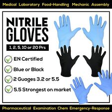 Strong Nitrile Gloves Blue Black |1-20 Pairs|