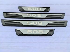For Peugeot 508 Car Accessories Door Sill Scuff Plate Cover Protector Kick Panel