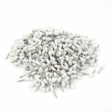 1000pcs White Wire Crimp Insulated Ferrule Pin Cord End Terminal AWG22 / 0.5mm²