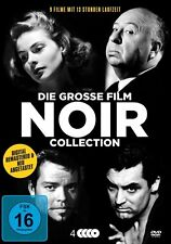 9 Filme FILM NOIR COLLECTION Hitchcock ORSON WELLEES H. Bogart Klassiker DVD Box