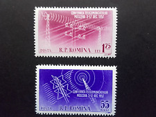 1958 - Romania - Telecommunication Conference in Moscow , Mi.1699 - 1700 MNH