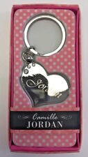 JORDAN Camille heart silver color personalized KEYCHAIN BRAND NEW IN PACKAGE