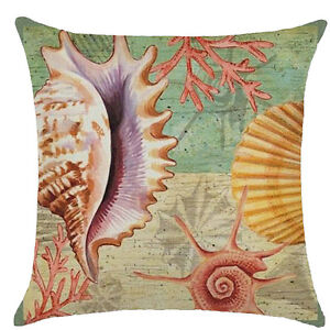 Pillow Case Marine Life Abstract Art Nature Throw Cushion Cover Garden Decor