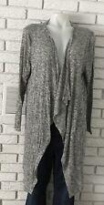 Zara Womens L Gray Knit Waterfall Cardigan Long Sleeve Open Front NWOT