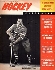 1964 (Apr.) Hockey Pictorial Magazine, Jacques Laperriere, Montreal Canadiens~Fr