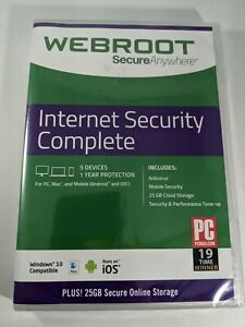 WEBROOT SecureAnywhere Internet Security Complete 5 Devices 1 Year