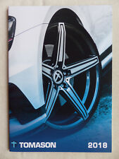 Tomason Alufelgen Wheels 2018 - Mini Audi Seat BMW VW - Prospekt Brochure 2017