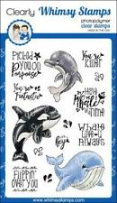 """Stempel """"Whale of a Time"""" Whimsy Stamps, Wale & Delphin, Clear Stamps"""