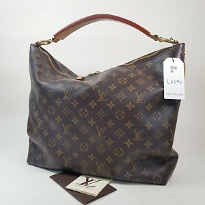 Auth Louis Vuitton Sully MM Monogram M40587 Genuine With Invoice Hobo Bag LD091