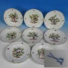 """Meissen Crossed Swords - Rothschild Birds Bugs - 8 Porcelain Dinner Plates 9¼"""""""