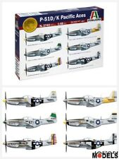 MUSTANG P-51D/K PACIFIC ACES 6 Version Decal taleri No.2743 1/48 Model Kit Aereo