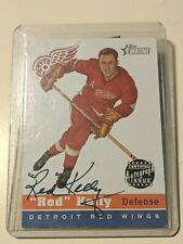 2001-02 Topps Heritage Certified Authentic Issue #HA-RK - Red Kelly Auto Card