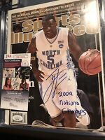 Ty Lawson Autographed/Signed Sports Illustrated: UNC Tar Heels; 2009 Champs JSA