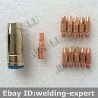 1.0mm CuCrZr Contact Tip Binzel BW MB25 25AK SB25 Kit Nozzle Tip Holder Mig Gun