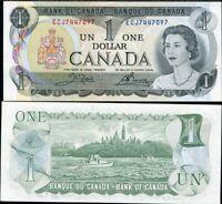 CANADA 1 DOLLARS 1973 P 85 C AUNC ABOUT UNC