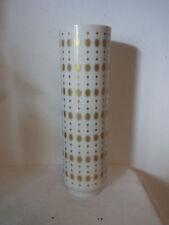60´s Hutschenreuther Vase Sunburst Sun White Gilt #BV