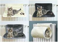 Kitten Cat Pet Bed Hanging Radiator Warm Fleece Basket Cradle Hammock Plush