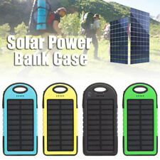 Portable 5000mah 2 USB Solar Power Bank Battery Case Cell Phone Charger
