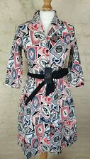 rare FRED PERRY x AMY WINEHOUSE 'Card Printed Dress' Size: UK 8 NEW WITH TAGS