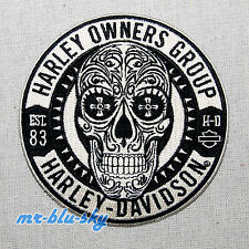 Sugar Skull Patch ~ Harley Davidson Owners Group HOG  H.O.G.