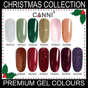 Christmas Nail Gel Polish CANNI UV LED Set Colour Varnish Glitter Coat 7.3ml