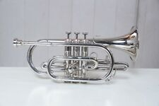 Cornet Fantastic  Nickel Plated Bb  pitch with hard case and MP