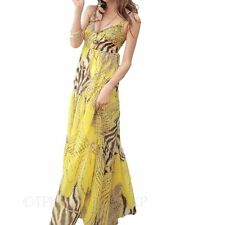 Chiffon V-Neck Animal Print Casual Dresses for Women