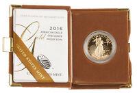 $50 1oz Proof Gold American Eagle Box & Cert (Random Date)