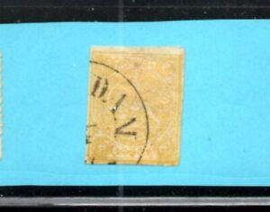 4PERSIA  1876 4 Krans Yellow Fine-VF Used. Scott 20