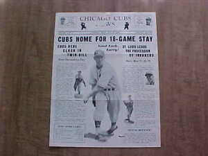 Vintage May 27, 1940 Chicago Cubs Newsletter