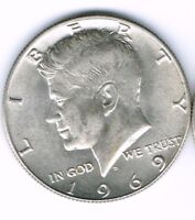1969 Denver Brilliant Uncirculated Silver Strike JFK Half Dollar Coin!