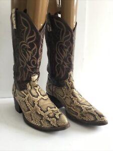 Snake Skin Cowboy Boots Size:9 (850JS)