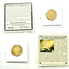 1808 Gardner Shipwreck East India Co 10 CASH Coin,Mini Album,Certificate,Story