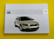 S40 S 4 0 Sedan 04 2004 Volvo Owners Owner's Manual 2.4i LSE T5 All Models