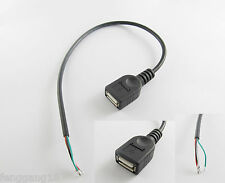 5x USB 2.0 A Female Jack 4 Pin 4 Wire Data Charge Cable Cord Connector DIY 30cm