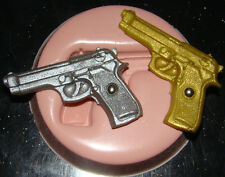 silicone mould James bond army gun 007 icing cake cupcake decorating fimo clay