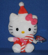 TY HELLO KITTY RED CANDY CANE BEANIE BABY - MINT with MINT TAGS