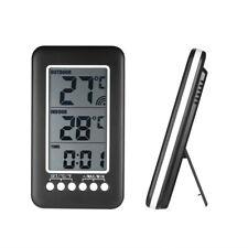 LCD ℃/℉ Digital Wireless Indoor/Outdoor Thermometer Clock Temperature Meter U1J0