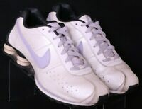 Nike 309351-102 Shox Classic White Leather Lace-UP Running Shoes Women's US 10