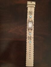 Fossil Genuine Leather Women's Wrist Watch 0ff White Shiny *Needs New Battery