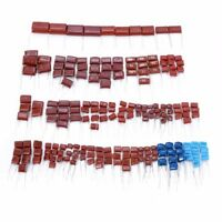 200Pcs 630V 25 values 0.001uf~2.2uf CBB Metal Film Capacitors Assortment Kit