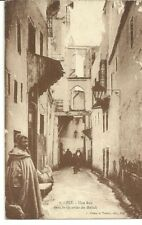Judaica Morocco Old Postcard Street in the Mellah the Jewish Quarter