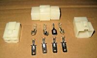 NEW 4 WAY PIN PLUG x 5 CONNECTORS 6.3MM PINS SOCKET MOTORCYCLE HONDA
