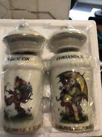NEW IN BOX M.J. Hummel Spice Jar Set Little Companions 1987 Danbury Mint