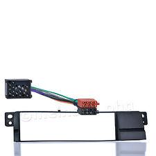 Radio Blende für BMW 3er E46 Radio Einbau Rahmen Adapter Kabel Rund Kontakt ISO