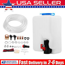 Universal Washer Tank Pump Bottle Kit Windshield Wiper Systems Quality Reservoir