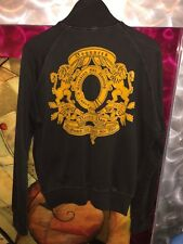 LIMITED EDITION DSQUARED2 GOLD EMBROIDERED VINTAGE BLACK COTTON JACKET XL ITALY