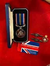 More details for british national service medal mint and cased with numbered certificate