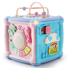 Baby Activity Center Toys Cube Blocks Shape sorter with Music and Light